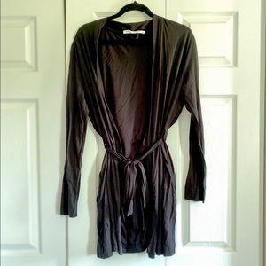 Black lightweight robe